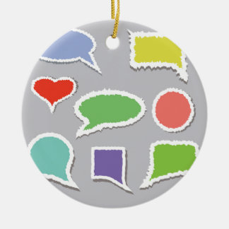 66Speech Bubbles_rasterized Keramik Ornament
