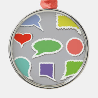 66Speech Bubbles_rasterized Silbernes Ornament