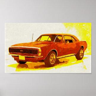 67 Camaro Impressionist Plakatdruck