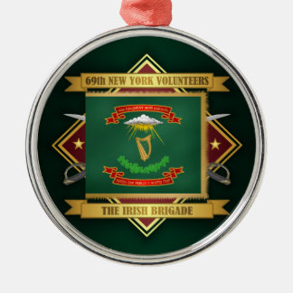69. Freiwillige Infanterie New York Silbernes Ornament