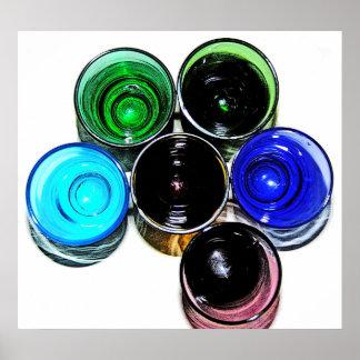 6 farbige Cocktail-Schnapsglas e-ähnlich 10 Plakate