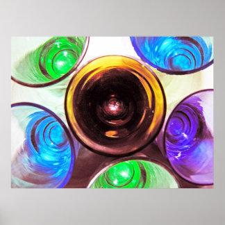 6 farbige Cocktail-Schnapsglas e-ähnlich 13 Plakatdruck