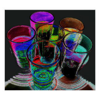 6 farbige Cocktail-Schnapsglas e-ähnlich 17 Poster