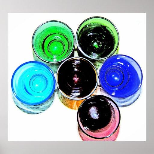 6 farbige Cocktail-Schnapsglas e-ähnlich 9 Plakate