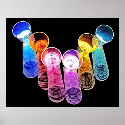 6 farbige Cocktail-Schnapsglas es-ähnlich 1 Posterdrucke