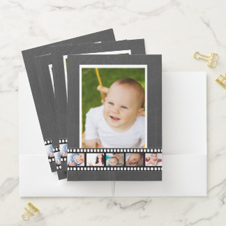 6 Foto-personalisierte Foto-Spulen-Imitat-Tafel Bewerbungsmappe