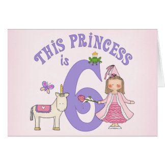 6. Geburtstag Einladung Einhorn-Prinzessin-