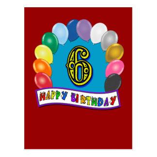 6. Geburtstags-Geschenke mit sortiertem Postkarte