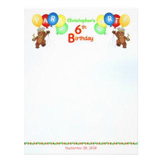 6. Geburtstags-Party-königliches Bärn-Einklebebuch 21,6 X 27,9 Cm Flyer