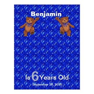 6. Geburtstags-Tanzen-Bärn-Einklebebuch-Papier 1 21,6 X 27,9 Cm Flyer