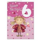 6. Geburtstagskarte mit niedlicher Marienkäferfee Karte
