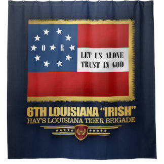 "6. ""Irische"" Infanterie Louisianas Duschvorhang"