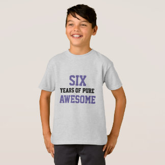 6-Jährige Geburtstags-Shirt T-Shirt