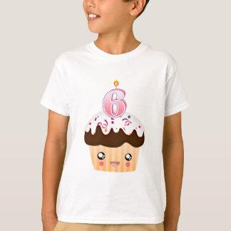 6-jähriger kleiner Kuchen T - Rosa T-Shirt