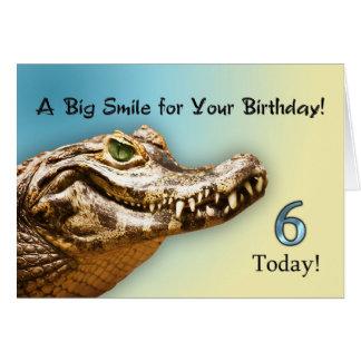 6. Lächelnde Karte des Geburtstages Alligator