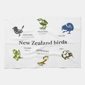 6 Neuseeland-Vögel Küchenhandtücher