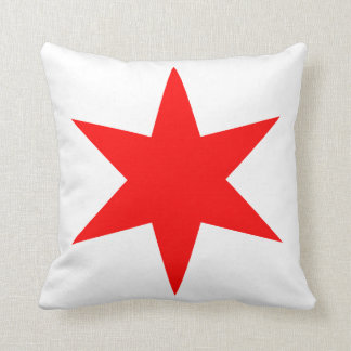 6-Pointed Chicago Flaggen-roter Stern Kissen