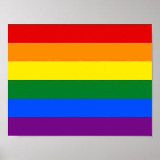 6-Stripe LGBT Gay Pride-Regenbogen-Flagge Poster