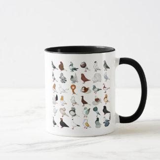 6 Tauben-Zucht Tasse