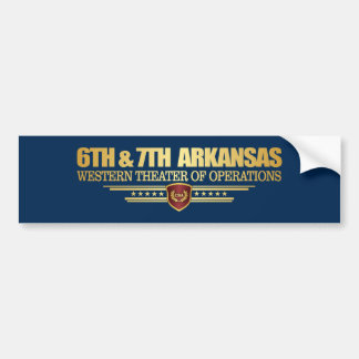 6. u. 7. Arkansas-Infanterie (konsolidiert) Autoaufkleber