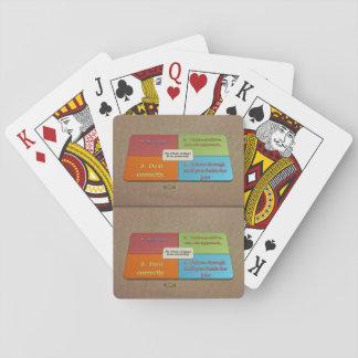 6. Zitat; Die 4 Regeln von, wie man etwas tut Spielkarten