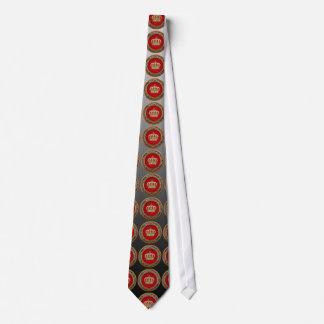 [700] Prinz-Prinzessin König-Königin Crown Bedruckte Krawatte