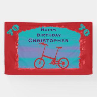 70., 75., Geburtstags-Party-Fahrrad Banner