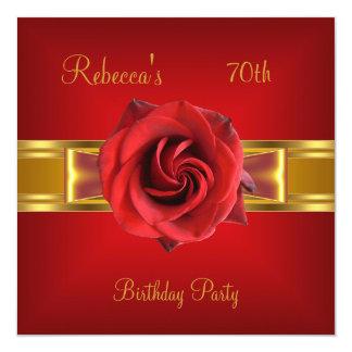 70. Bunter königlicher roter Blumen-gelbes Karte