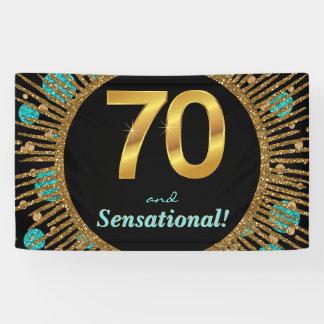 70. der Geburtstags-Fahne der Frau Banner