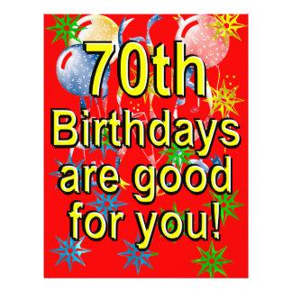 70. Geburtstag 21,6 X 27,9 Cm Flyer