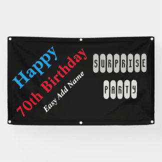70. Geburtstag Banner