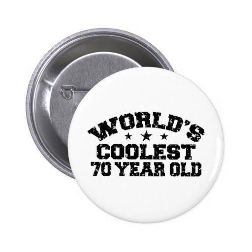 70. Geburtstag Buttons