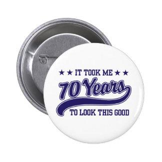 70 Geburtstag Anstecknadel
