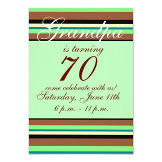 70. Geburtstag Einladung 12,7 X 17,8 Cm Einladungskarte