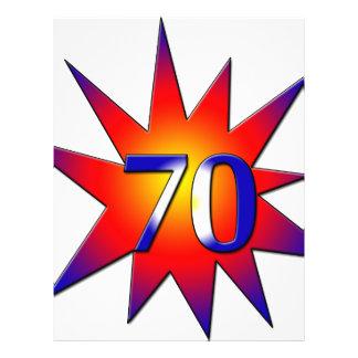 70. Geburtstag Flyers
