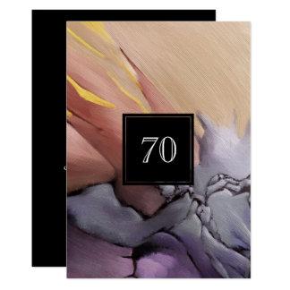 70. Geburtstags-Feier-Gewohnheits-Einladungen Karte