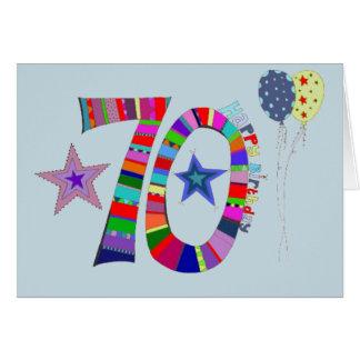 70. Geburtstags-glückliche 70. Geburtstags-Karte Karte