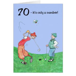 70. Geburtstags-Karte für einen Golfspieler Grußkarte