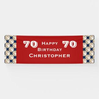 70. Geburtstags-Party-Baseball-Fahne, Erwachsener Banner