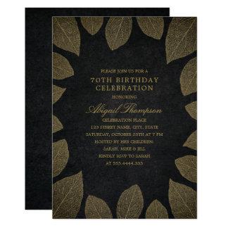 70. Geburtstags-Party-elegantes schwarzes Karte