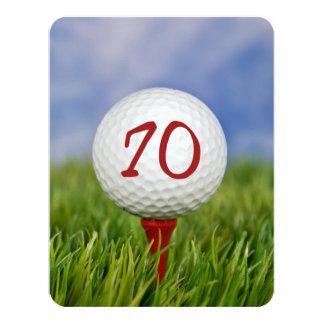 70. Geburtstags-Party-Golfthema Karte
