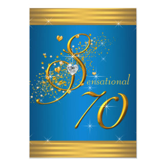 70. Geburtstags-Party Karte
