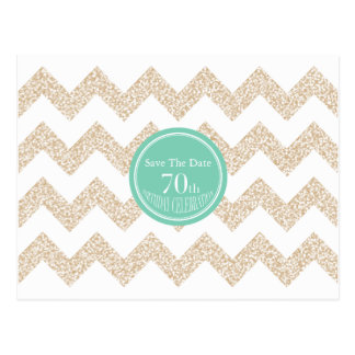 70. Geburtstags-Party - Save the Date - wählen Sie Postkarte