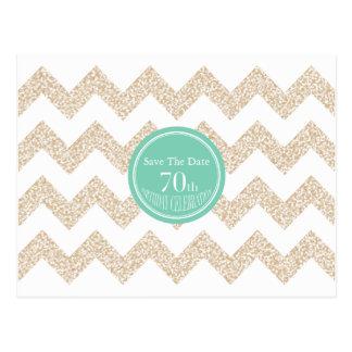 70. Geburtstags-Party wählen Save the Date Farbe Postkarte