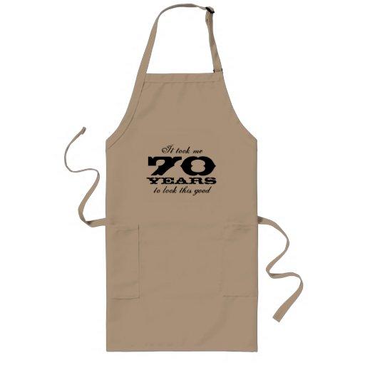 70. Geburtstags-Schürze für Männer mit lustigem
