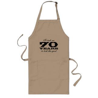 70. Geburtstags-Schürze für Männer mit lustigem Lange Schürze