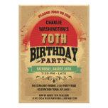 70. Geburtstags-Vintager TypografieGrunge Individuelle Einladungen