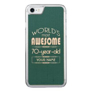 70. Geburtstags-Weltgut fabelhaftes dunkelgrünes Carved iPhone 8/7 Hülle