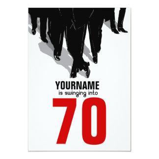 70. Geburtstagswingers-Ratten-Satz-Party 12,7 X 17,8 Cm Einladungskarte