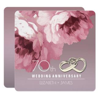 70. Hochzeits-Jahrestags-Party Einladungen